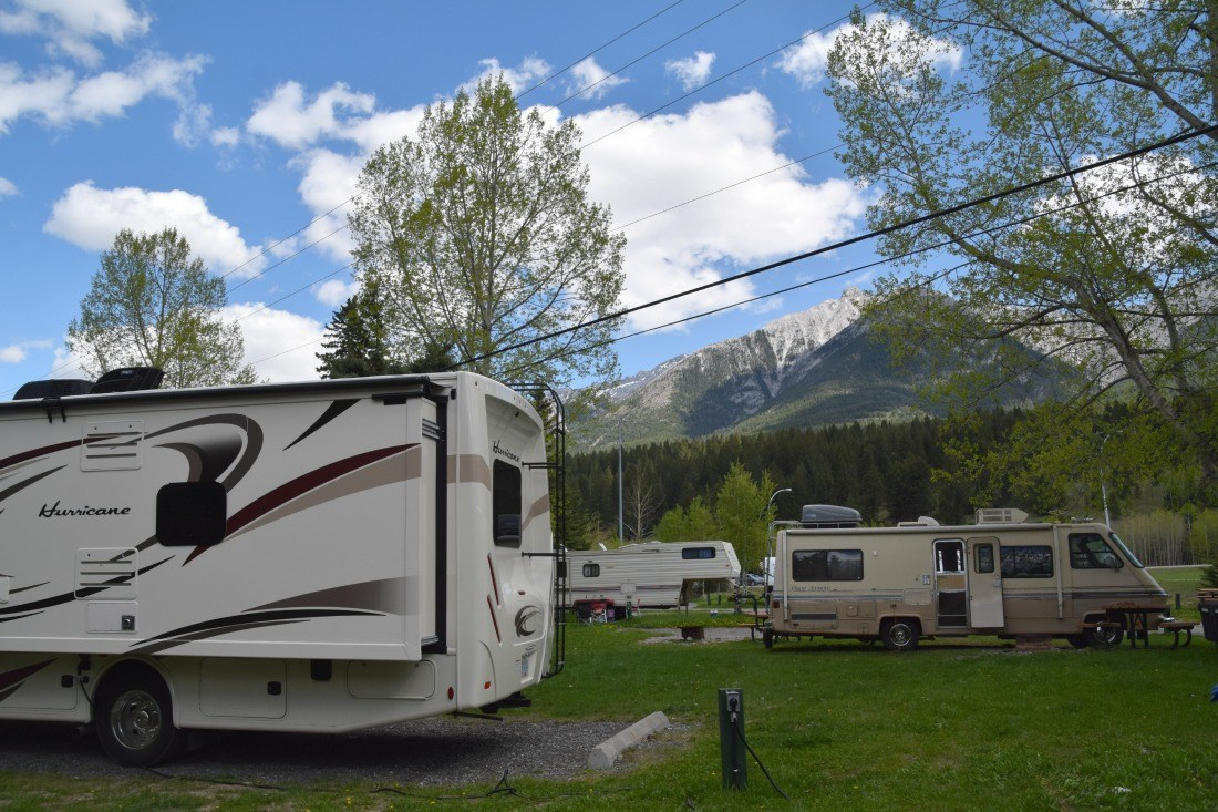 Camping at Wapiti canmore