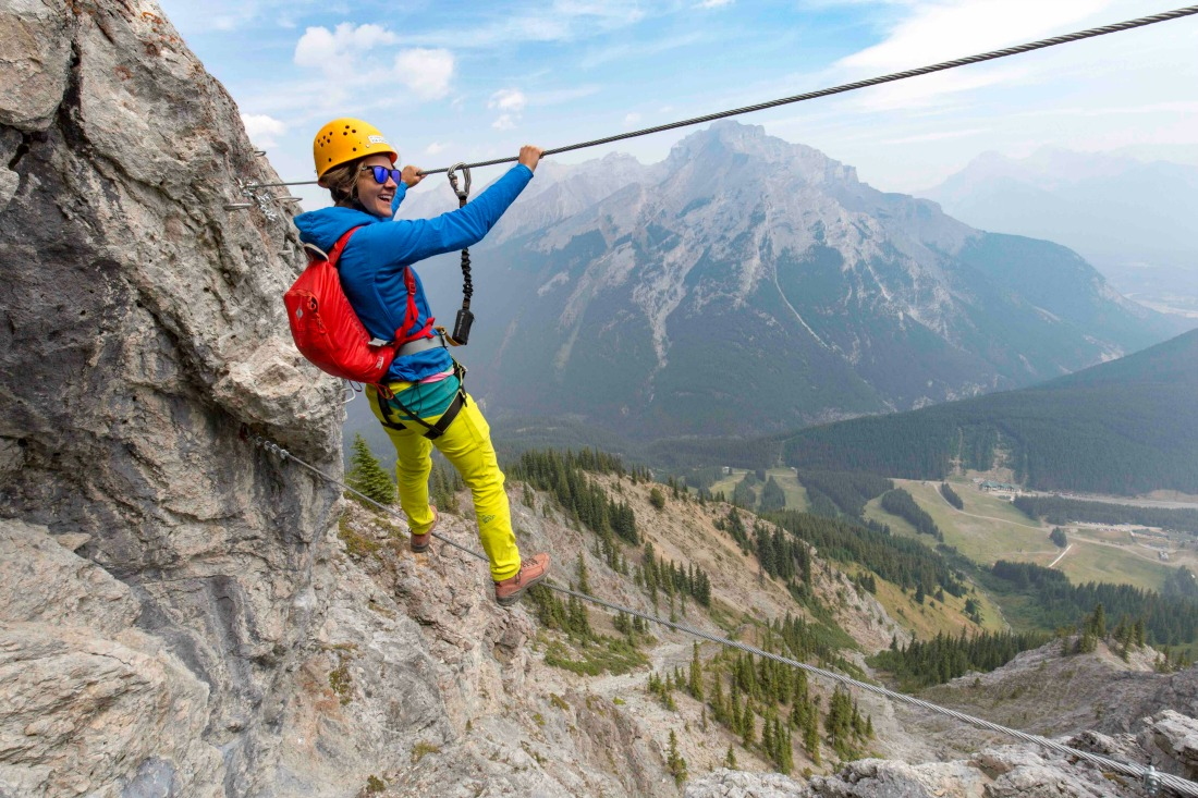 Everything you need to know about the Via Ferrata at Mt Norquay, Banff