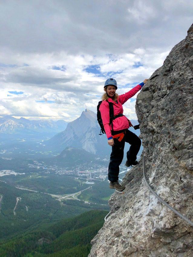 Mountain climbing in Banff National Park, Canada
