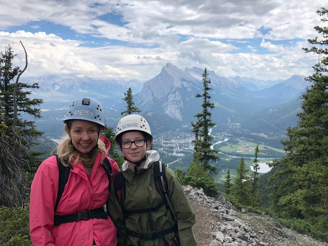 Kids can climb Mt Norquay in #Banff via the Via Ferrata