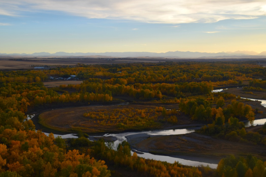High River Highwood River aerial