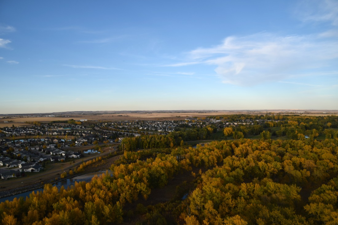 High River, Alberta aerial