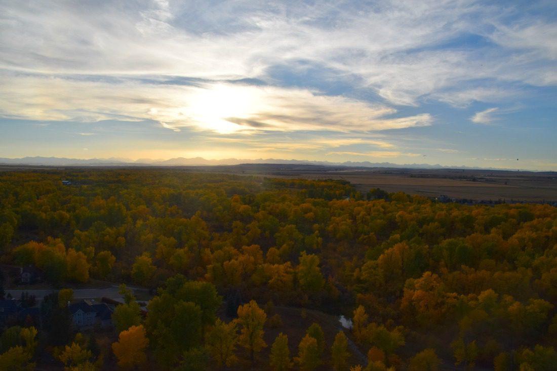 sunset over the prairies