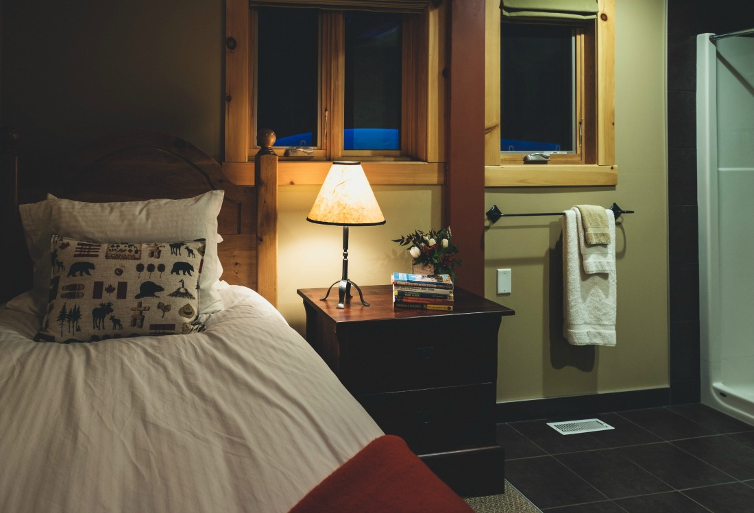 hotel guest room of singles