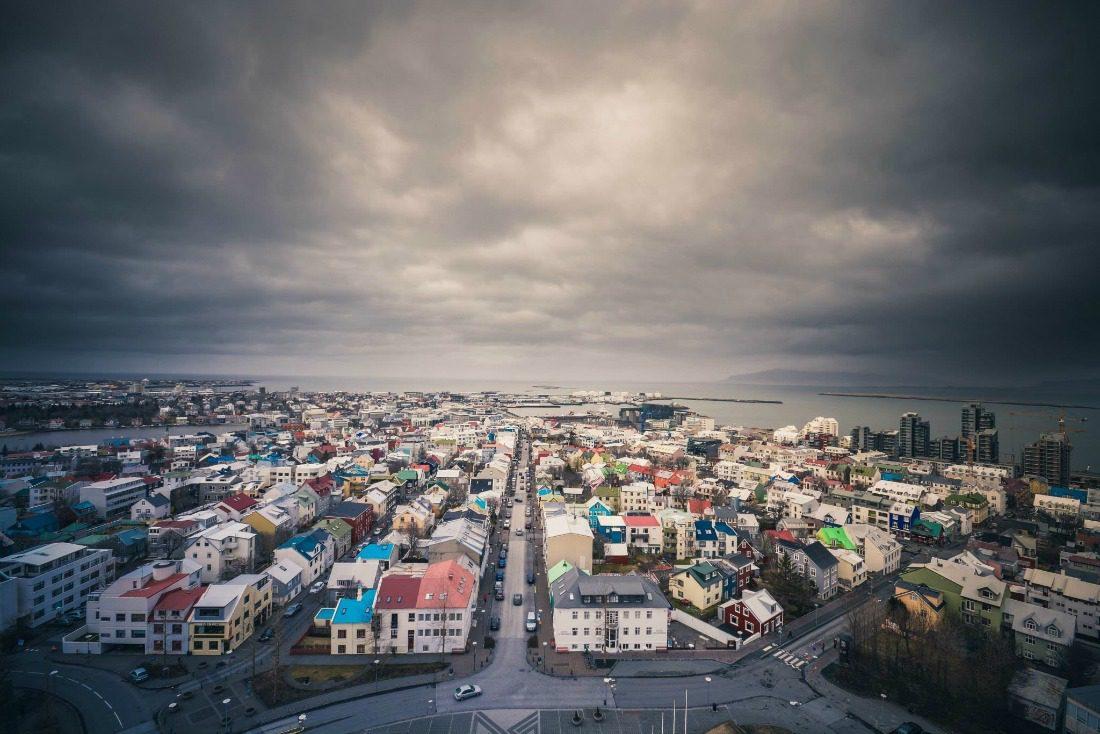 Reykjavik aerial view