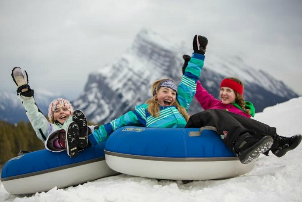 Norquay tubing is the most fun you'll have all winter