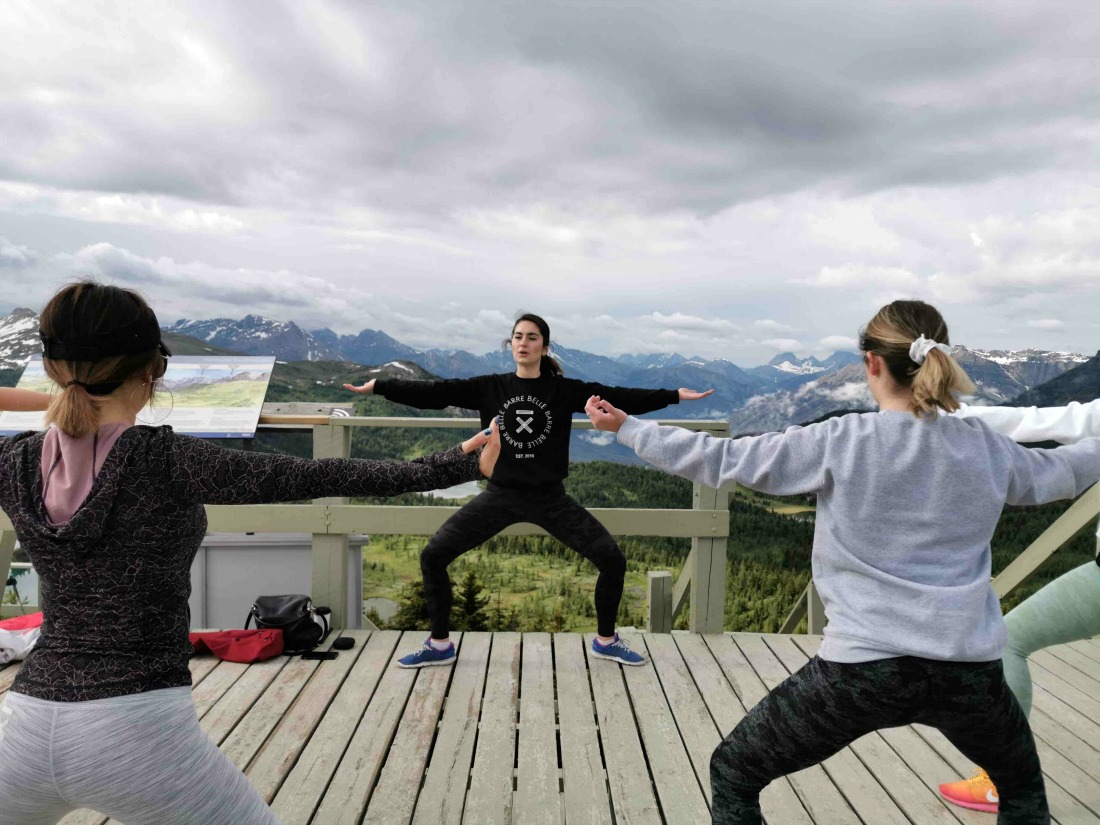 This is the most invigorating spot in Banff (and possibly Canada) for yoga