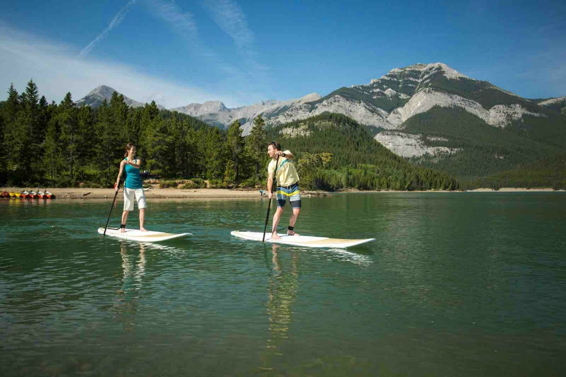 paddleboarding and kayaking in Kananaskis