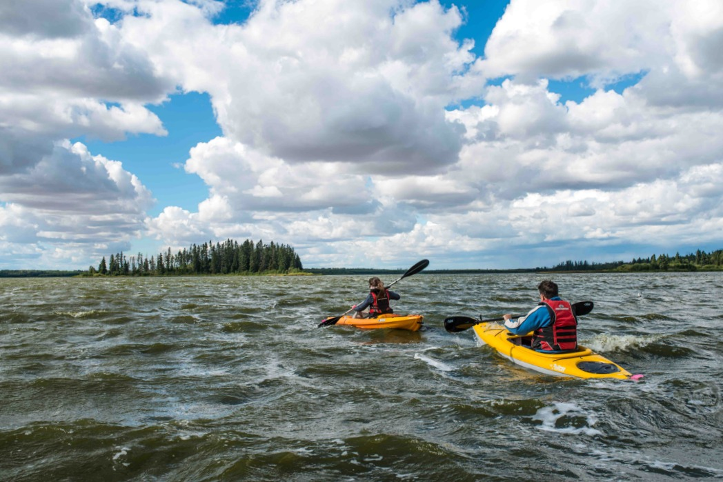 kayaking Elk Island National Park