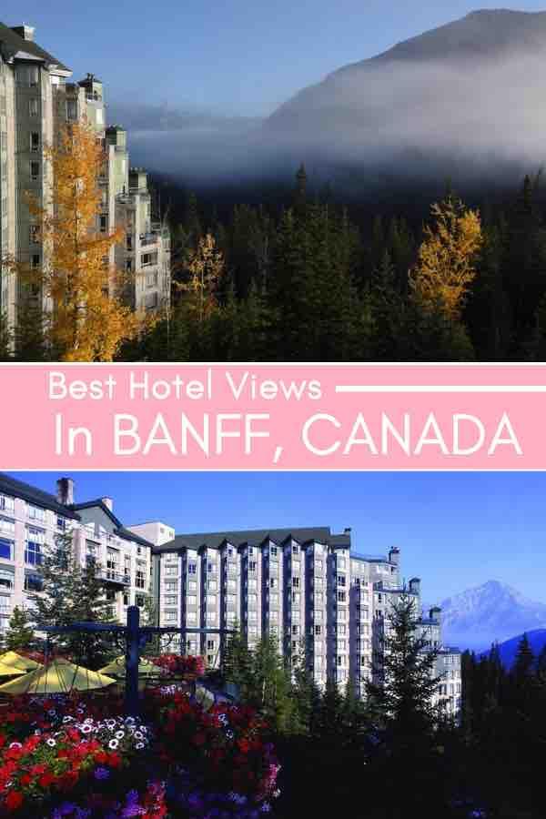 best hotel views banff