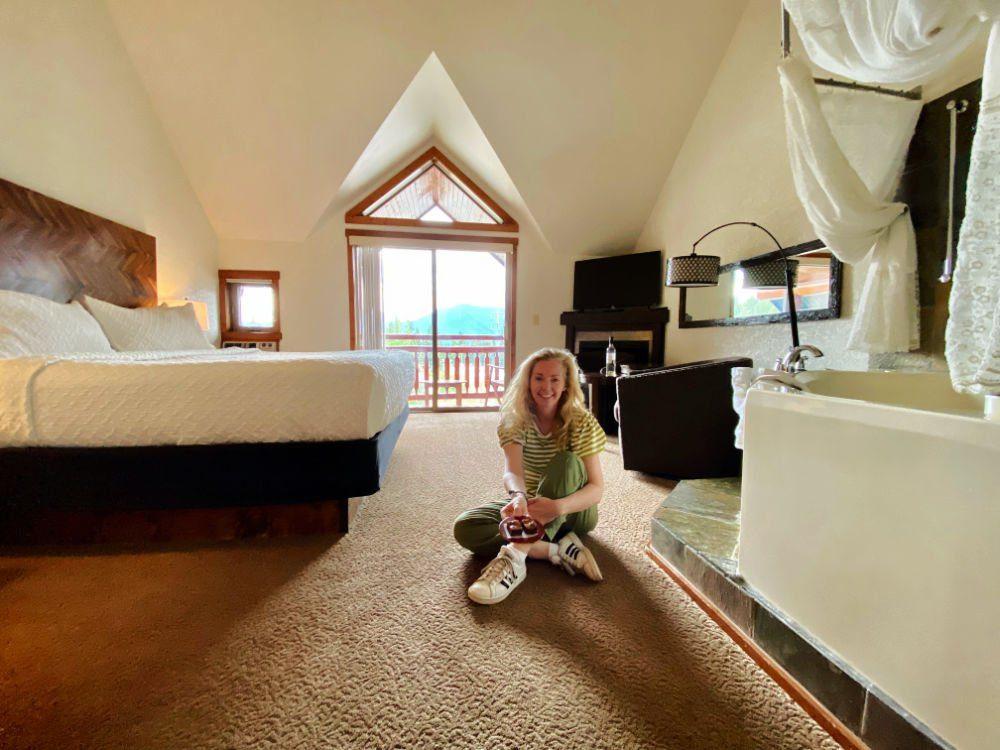 mountain resort guest room