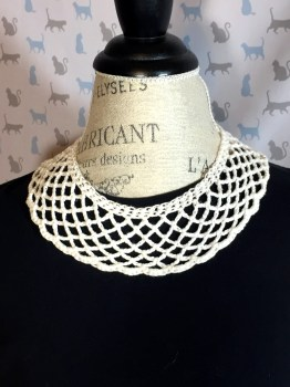 RBG Inspired White Crocheted Collar