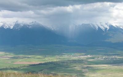 Uitzicht over Lake Missoula Montana