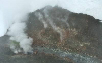 Geotermische activiteiten tussen Landmannalaugar en Hrafntinnusker hut, IJsland, 2011