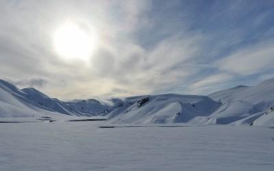 Laatste sneeuwwandeldag, Landmannalaugar, IJsland, 2011