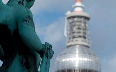 Fernsehturm vanaf de Dom, Berlijn, Duitsland, 15-5-2016