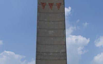 Gedenkteken uit de DDR-tijd, Concentratiekamp Sachsenhausen, Sachsenhausen, Duitsland, 18-5-2016