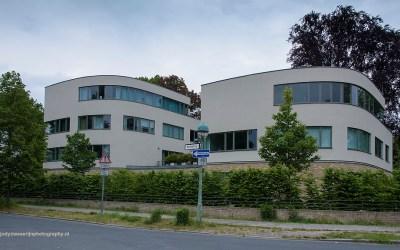 DDR architectuur in wijk Pankow, Berlijn, Duitsland, 18-5-2016