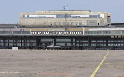 Luchthaven Tempelhof, wijk Kreuzberg, Berlijn, Duitsland, 19-5-2016