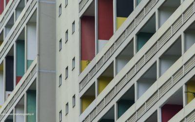 Le Corbusier's Berlin Unité, Westend, Berlijn, Duitsland, 20-5-2016