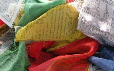 Bhutan, gebedsvlaggetjes