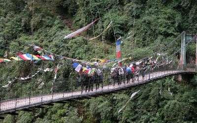 Start Dzongri Trek, Sikkim, India, 2009