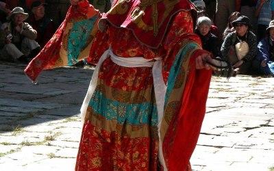 Bhutan, religieus festival in Prakhar