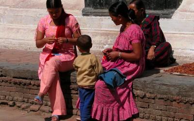Pleintje in Kathmandu, Nepal, 2006
