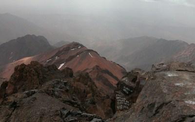 Vanaf de top van de Toubkal, Marokko, 2006