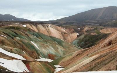 IJsland, Landmannalaugar, route richting Hrafntinnusker