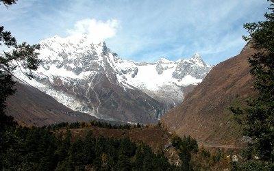 Onderweg tussen Lho en Samdo, Manaslu Trekking, Nepal, 2006