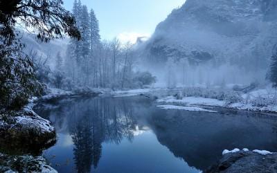 USA - Yosemite NP, Merced River richting Half Dome