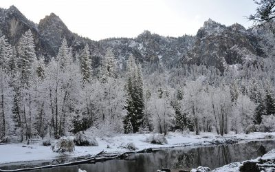 USA - Yosmite NP, Yosemite Valley and Merced River