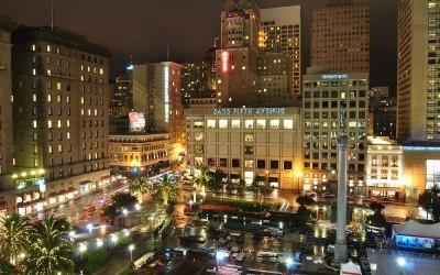 Union Square vanaf Warenhuis Macy's, San Francisco, USA, 2011
