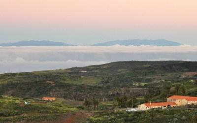 La Gomera, uitzicht op La Palma vanuit Chipude
