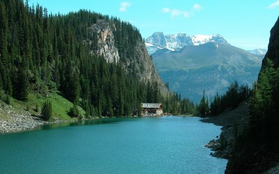 Lake Agnes, wandeling Plain of the Six Glaciers, Lake Louise, Canada, 2008