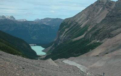Uitzicht op Lake Louise vanaf wandelroute Plain of the Six Glaciers, Canada, 2008