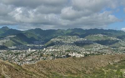 Uitzicht vanaf Diamond Head, Oahu, Hawaii, 2011