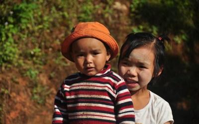 Myanmar, tijdens trekking in de buurt van Kyaukme