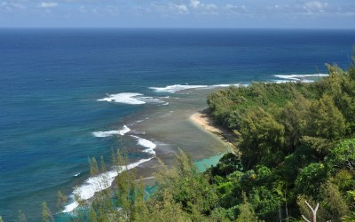 Uitzicht tijdens de Kalalau Trail, Kauai, Hawaii, 2011
