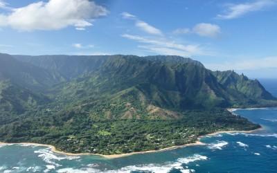 Helicoptervlucht boven Napali Kust, Kauai, Hawai