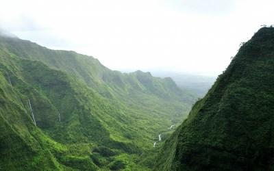 Uitlopers van Mt. Waialeale, Kauai, Hawaii, 2011
