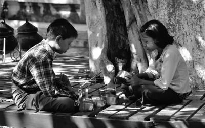 Myanmar, Amarapura, lunchtijd
