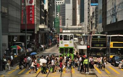 Hong Kong, straatbeeld HK Island