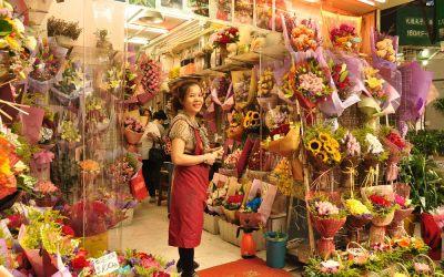 Hong Kong, Kowloon, bloemenmarkt