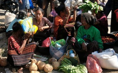 Markt in Moni, Flores, Indonesië, 2012