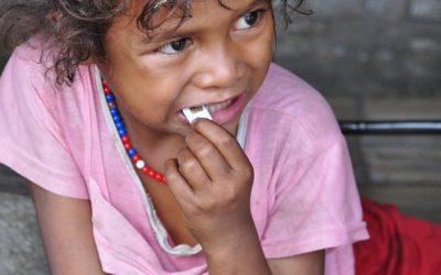 Meisje in traditioneel dorp Luba, near Bajawa, Flores, Indonesië, 2012