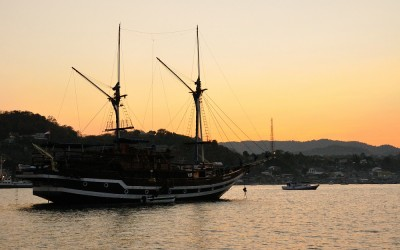 De haven van Labuan Bajo, Flores, Indonesië, 2012