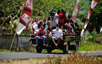 Persoonsvervoer, Sembalun, Lombok, Indonesië, 2012
