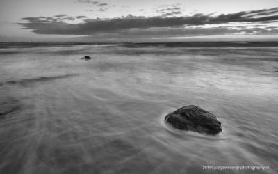 Zonsondergang aan strand van Audresselles, Opaalkust, Frankrijk, 3-5-2015